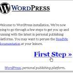 wordpress blog start