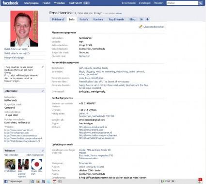 facebook-profiel-ingevuld