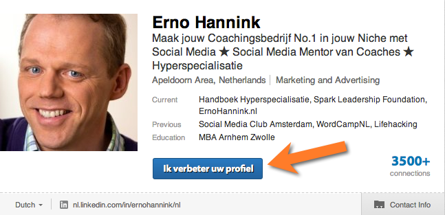 LinkedIn Makeover profiel