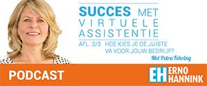 Erno Hannink Show podcast - succes met virtuele assistentie; Hoe kies je de juiste VA voor jouw bedrijf? met Petra Fehring
