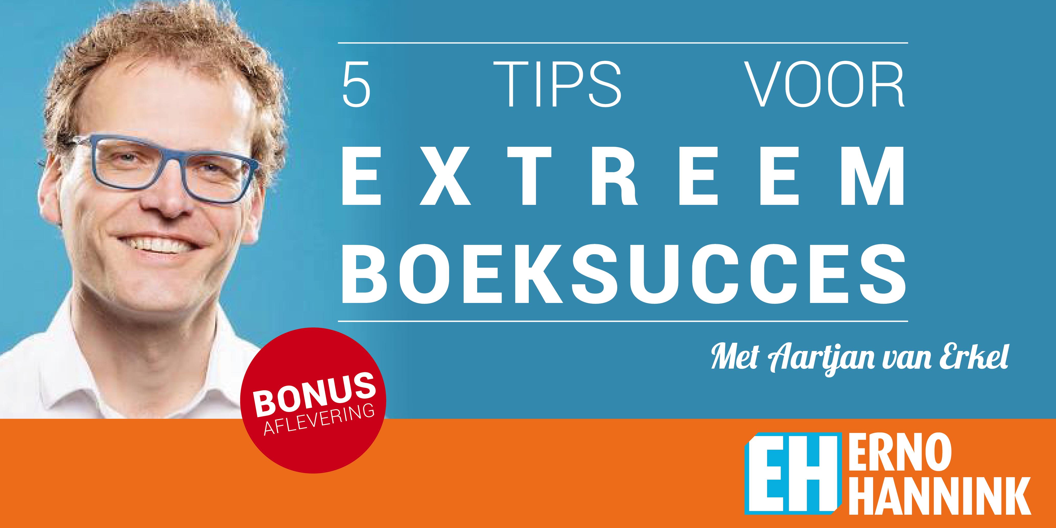 boek verkoop succes Aartjan van Erkel